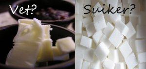 vet versus suiker
